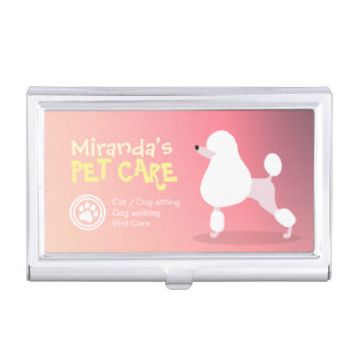 Pet Care Sitting Bathing and Grooming Beauty Salon Business Card Holder