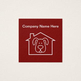 Pet Care Theme Square Business Card