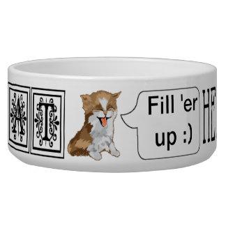 "Pet CAT Bowl Large ""I AM CAT Hear me ROAR"""