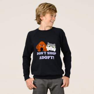 Pet Cat Dog Rescue Don't Shop Adopt! Sweatshirt