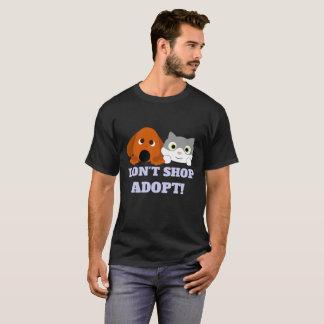Pet Cat Dog Rescue Don't Shop Adopt! T-Shirt