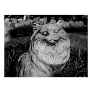 Pet Cemetary Cat grave marker poster photography