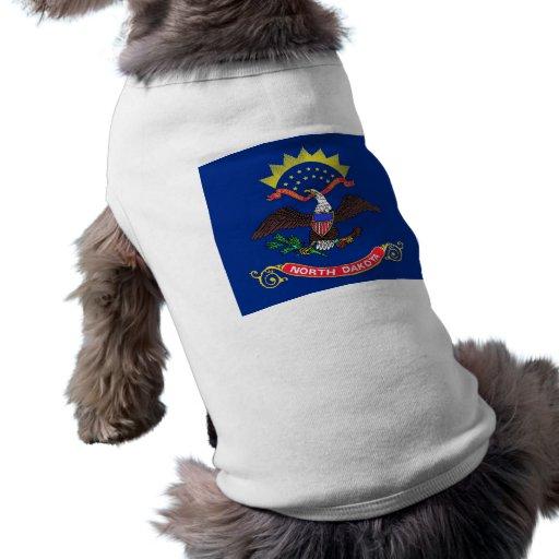 Pet Clothing with Flag of North Dakota, USA