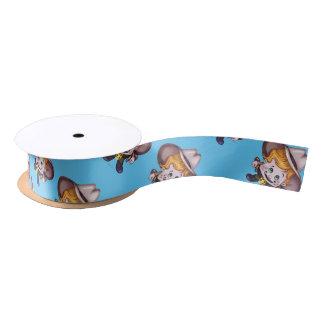 "PET COWBOY  1.5"" Wide Satin Ribbon, 10 Yard Spool Satin Ribbon"
