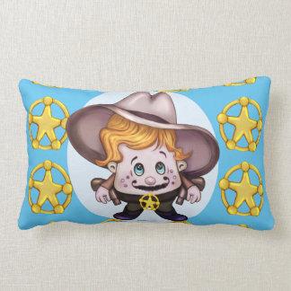 PET COWBOY Throw Pillow SQUARED LONG
