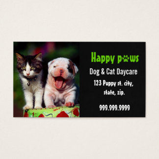 pet daycare business card