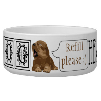 "Pet DOG Bowl Large ""I am dog Hear Me Roar"""