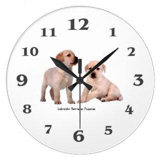 Pet Dog image for large-round-clock Clocks