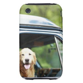 Pet dog sitting in a car iPhone 3 tough covers
