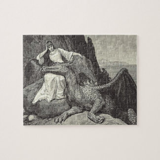 Pet Dragon and Maiden Jigsaw Puzzle