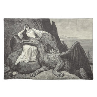 Pet Dragon and Maiden Place Mats