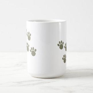 pet footprint coffee mug