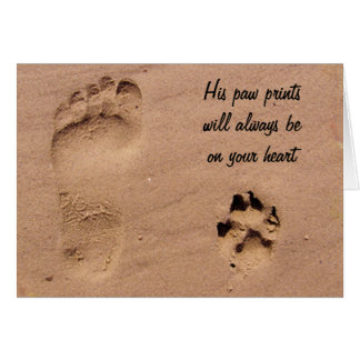 Pet & Footprint in the Sand Card