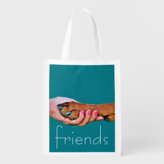 Pet Friendly-Hand Holding Dog Paw - Resuable Bag