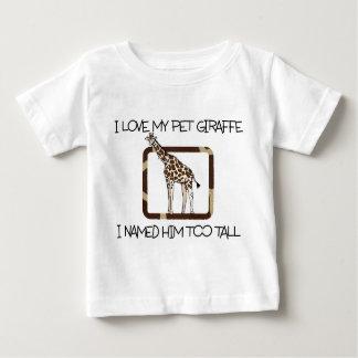 PET GIRAFFE BABY FINE JERSEY T-SHIRT