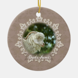 Pet Goat Memorial Vintage Lace Ornament