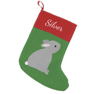 Pet Gray Rabbit Small Christmas Stocking