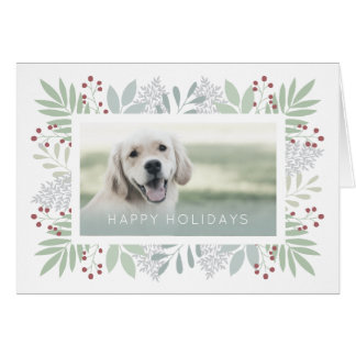 Pet Greeting Card | Green Leaves Card - #holidayz