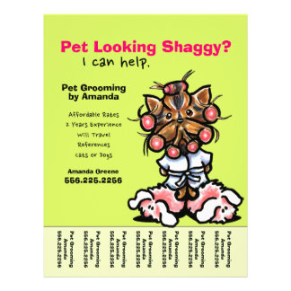 Pet Groomer Dog Grooming Personalized Tear Sheet Custom Flyer