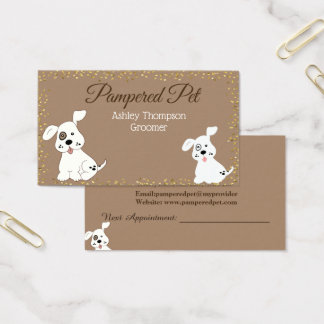 Pet Groomer Dog Spa Business Card