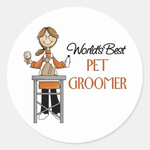 Pet Groomer Gift Round Sticker