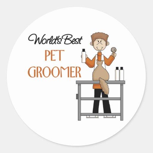 Pet Groomer Gift Round Stickers