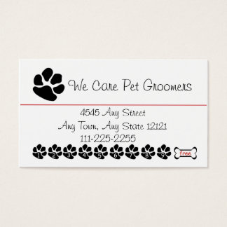 Pet  Groomer or Shop Customer Loyalty Punch Card