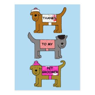 Pet Groomer Thanks Postcard