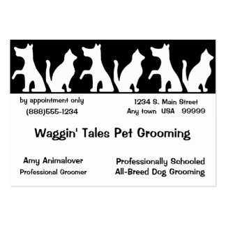 Pet Grooming Business And Appointment Card Large Business Card