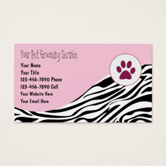 Pet Grooming Business Cards