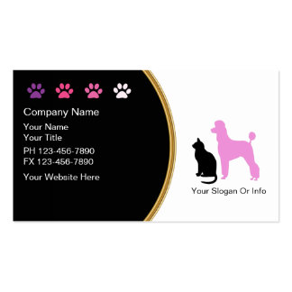Pet Grooming Business Cards New