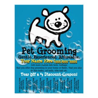 Pet Grooming. Customizable Promotional Tear sheet Flyers