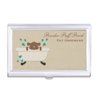 Pet Grooming Service Business Card Holder
