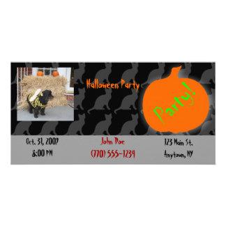 Pet Halloween Party Invitation Photo Greeting Card