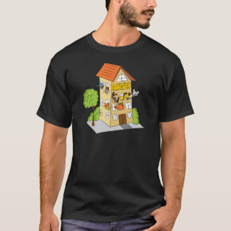 Pet Hotel Cartoon T-Shirt
