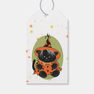 PET LITTLE WITCH 2 HALLOWEEN  GIFT TAG PACK OF GIFT TAGS