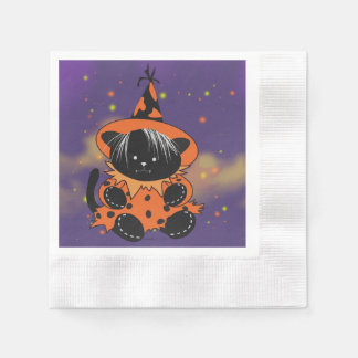 PET LITTLE WITCH 2 HALLOWEEN MONSTER NAPKINS PAPER NAPKIN