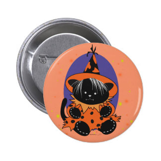 PET LITTLE WITCH 2  SMALL BUTTON 2¼ Inch