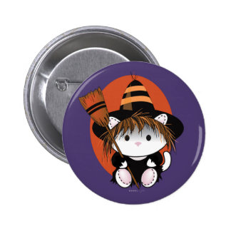 PET LITTLE WITCH  SMALL BUTTON 2¼ Inch