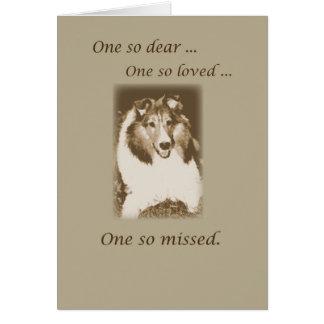 Pet Loss, Sheltie Dog Sympathy, Shetland Sheepdog Card