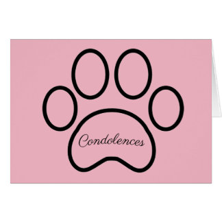Pet loss, sympathy card, girl,  pet, cat, dog card