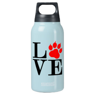 Pet Lover Paw Insulated Water Bottle
