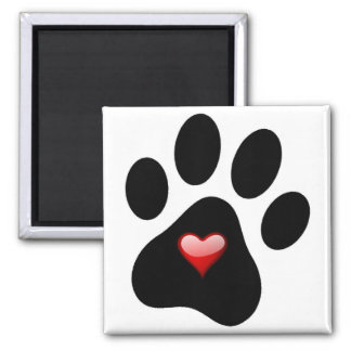 PET LOVERS PAW PRINT MAGNET ADOPT A PET