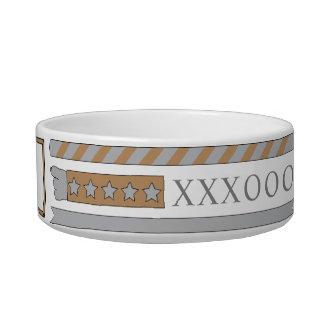 """Pet Medium Bowl """"XXXOOO"""""""