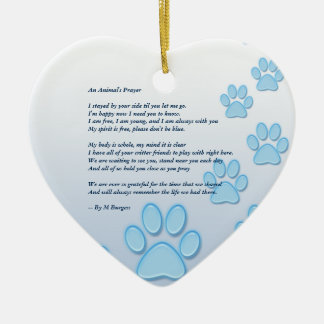 Pet Memorial 2 Sided - Heart Ornament