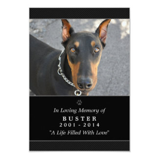 """Pet Memorial Card 3.5""""x5"""" Black Don't Grieve Poem"""