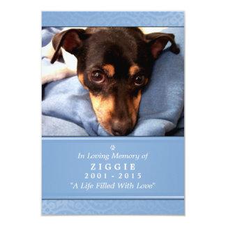 Pet Memorial Card 3.5 x 5 Blue Do Not Weep Poem
