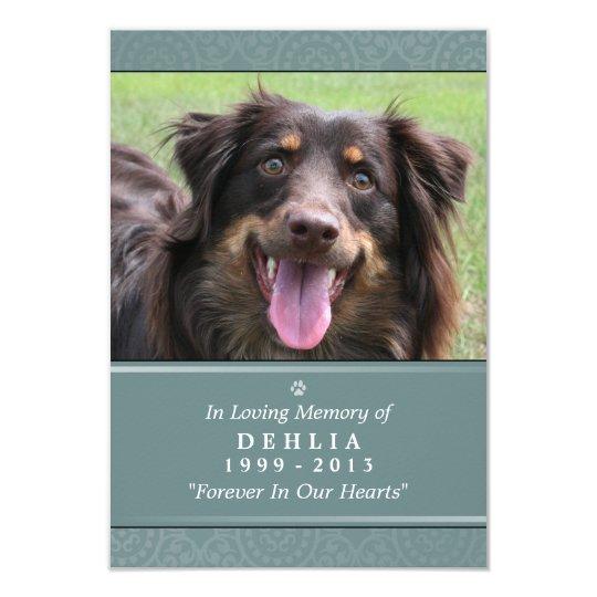Pet Memorial Card 3.5x5 Teal - Contented Poem