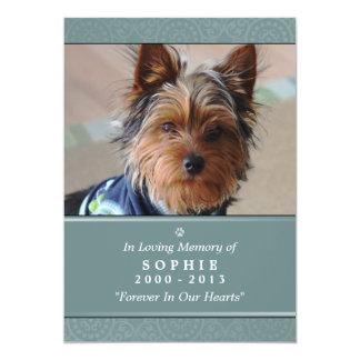 Pet Memorial Card 5x7 Teal God Saw You Poem