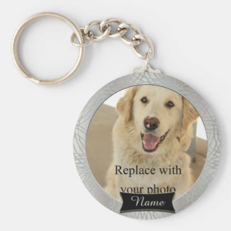 Pet Memorial Custom Photo Keychain